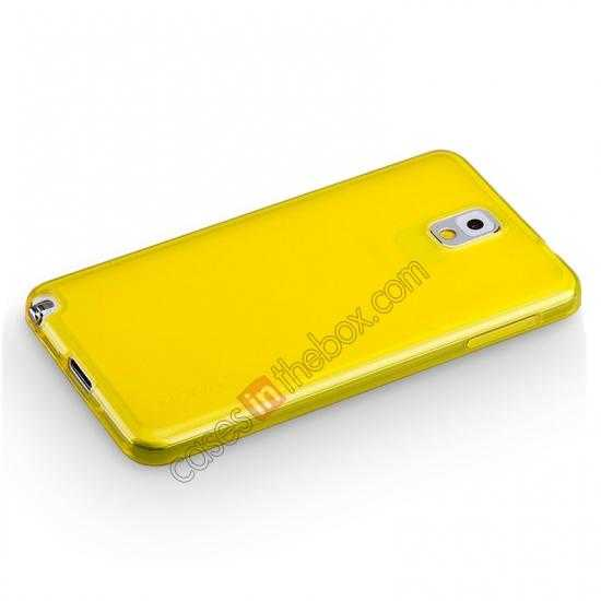 top quality Momax Ultra Thin Series Clear Twist Silicon Case for Samsung Galaxy Note 3 - Yellow