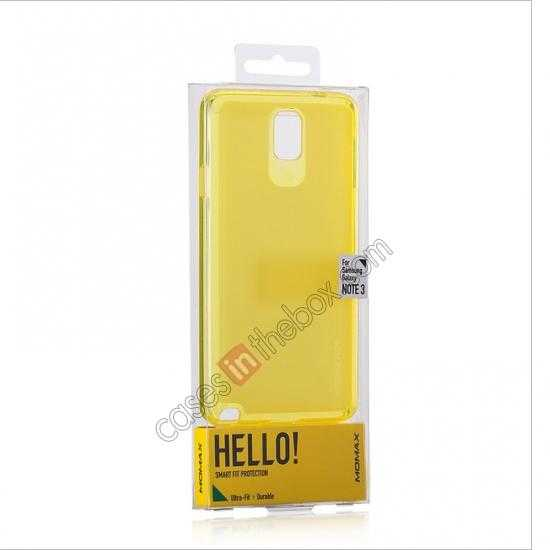 best price Momax Ultra Thin Series Clear Twist Silicon Case for Samsung Galaxy Note 3 - Yellow