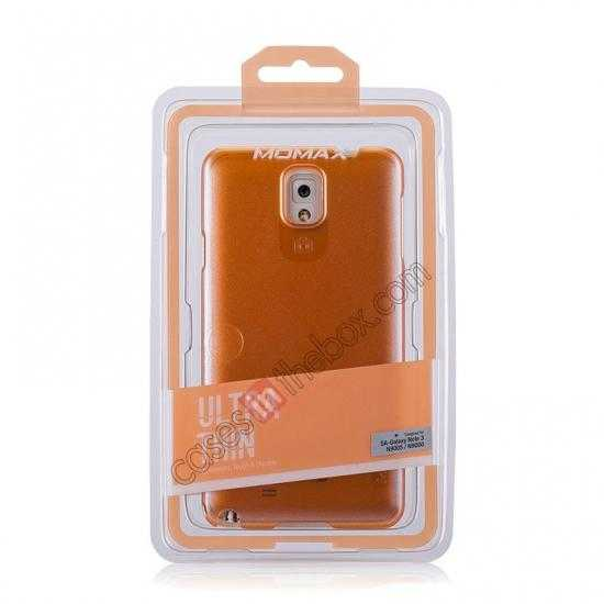 best price Momax Ultra Thin Series Pearl Hard Case Cover for Samsung Galaxy Note 3 - Orange