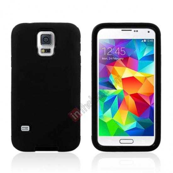wholesale Multifunctional protective robots phone case cover For Samsung Galaxy S5 - Black