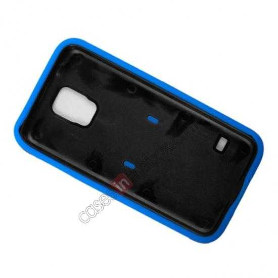cheap Multifunctional protective robots phone case cover For Samsung Galaxy S5 - Blue