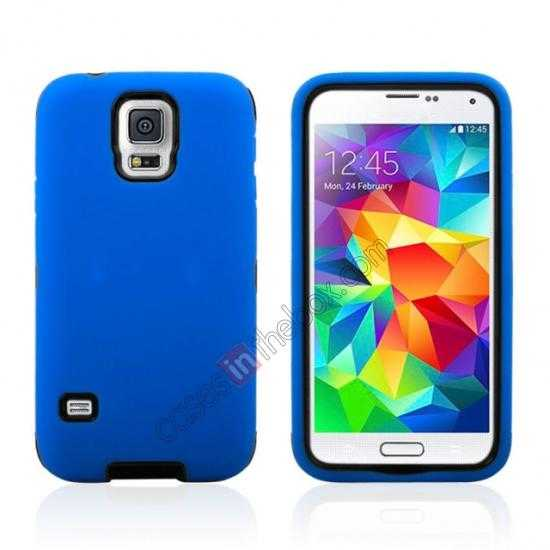 wholesale Multifunctional protective robots phone case cover For Samsung Galaxy S5 - Blue