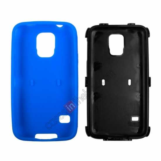 top quality Multifunctional protective robots phone case cover For Samsung Galaxy S5 - Blue