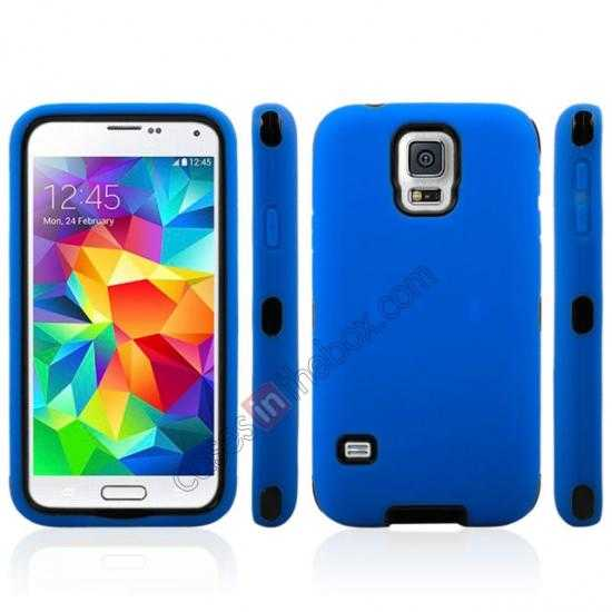 discount Multifunctional protective robots phone case cover For Samsung Galaxy S5 - Blue