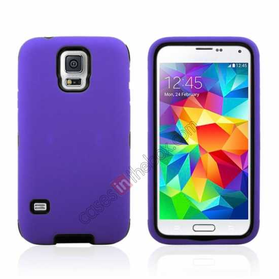 wholesale Multifunctional protective robots phone case cover For Samsung Galaxy S5 - Purple