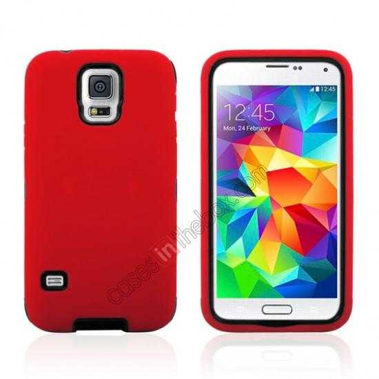 wholesale Multifunctional protective robots phone case cover For Samsung Galaxy S5 - Red