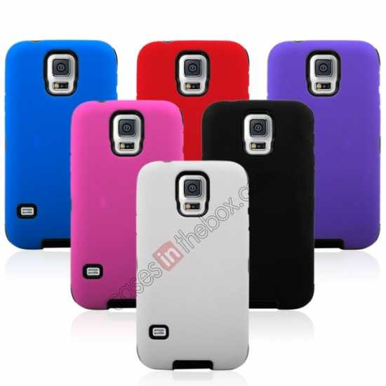 best price Multifunctional protective robots phone case cover For Samsung Galaxy S5 - White