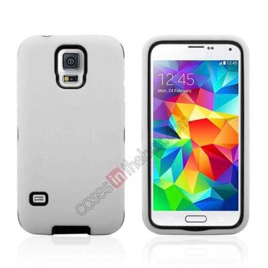 wholesale Multifunctional protective robots phone case cover For Samsung Galaxy S5 - White