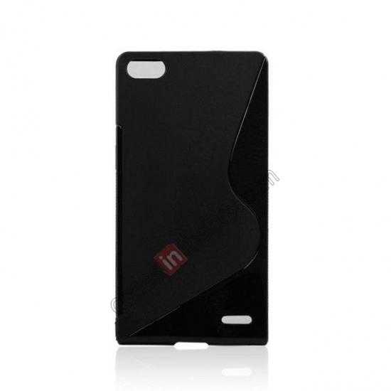 cheap New S Line TPU Soft Cover Case For Huawei Ascend P7 - Black