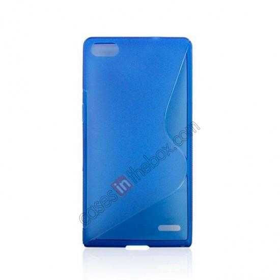 discount New S Line TPU Soft Cover Case For Huawei Ascend P7 - Blue