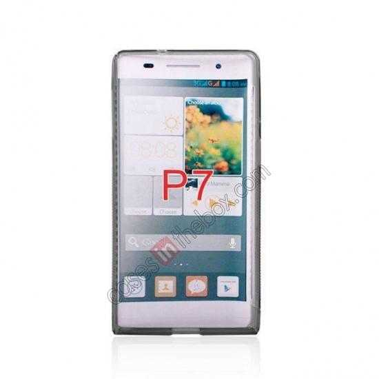 discount New S Line TPU Soft Cover Case For Huawei Ascend P7 - Grey