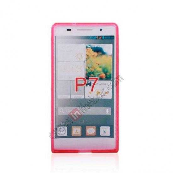 discount New S Line TPU Soft Cover Case For Huawei Ascend P7 - Pink