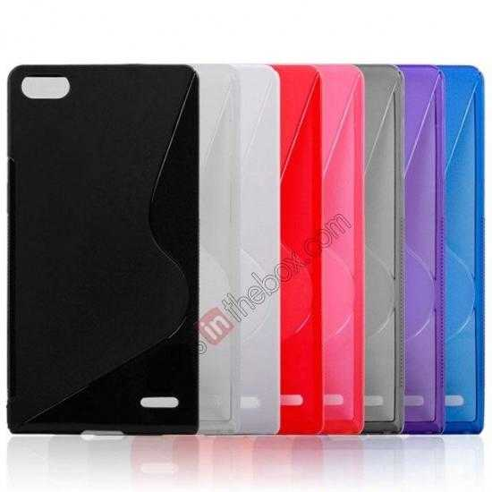 on sale New S Line TPU Soft Cover Case For Huawei Ascend P7 - Transparent