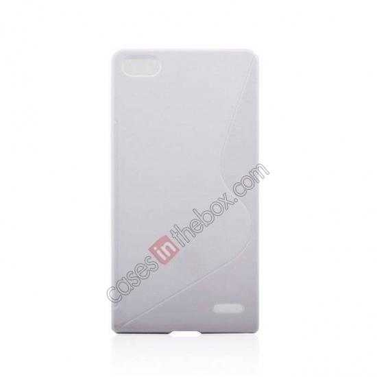 cheap New S Line TPU Soft Cover Case For Huawei Ascend P7 - White