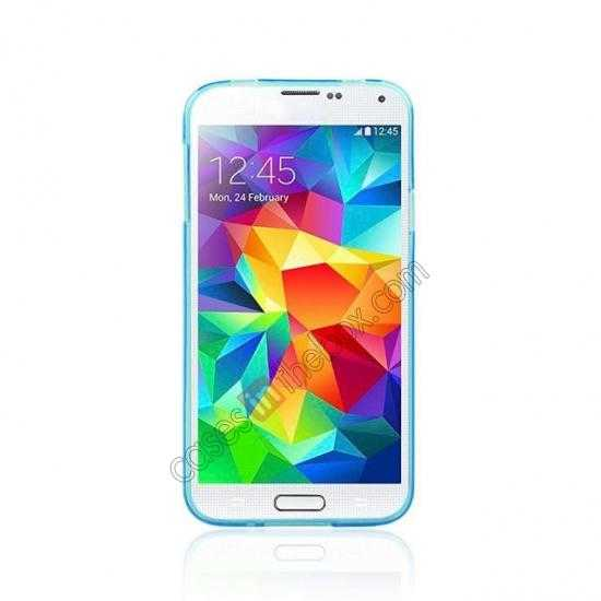 discount New Ultra Thin Soft TPU Back Case Cover For Sumsung Galaxy S5 - Blue