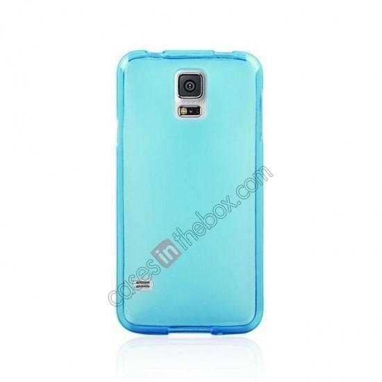 cheap New Ultra Thin Soft TPU Back Case Cover For Sumsung Galaxy S5 - Blue