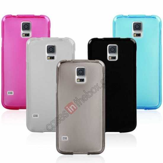 top quality New Ultra Thin Soft TPU Back Case Cover For Sumsung Galaxy S5 - Blue