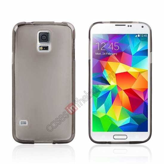 wholesale New Ultra Thin Soft TPU Back Case Cover For Sumsung Galaxy S5 - Grey