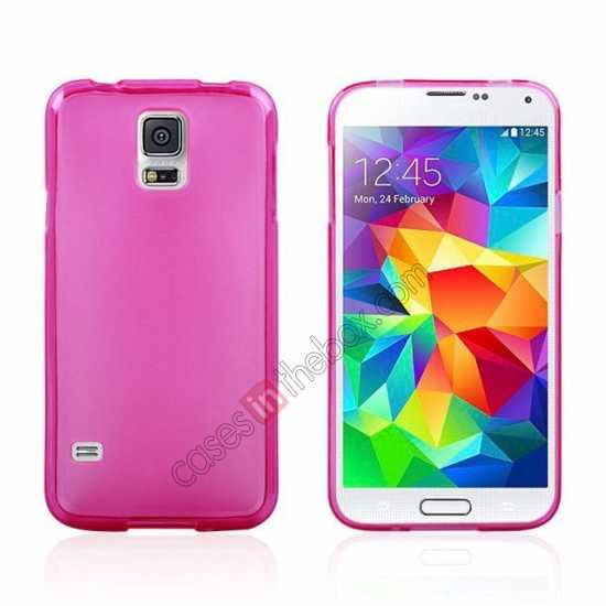 wholesale New Ultra Thin Soft TPU Back Case Cover For Sumsung Galaxy S5 - Rose