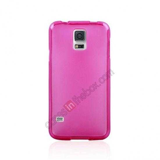 cheap New Ultra Thin Soft TPU Back Case Cover For Sumsung Galaxy S5 - Rose