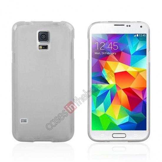 wholesale New Ultra Thin Soft TPU Back Case Cover For Sumsung Galaxy S5 - Transparent