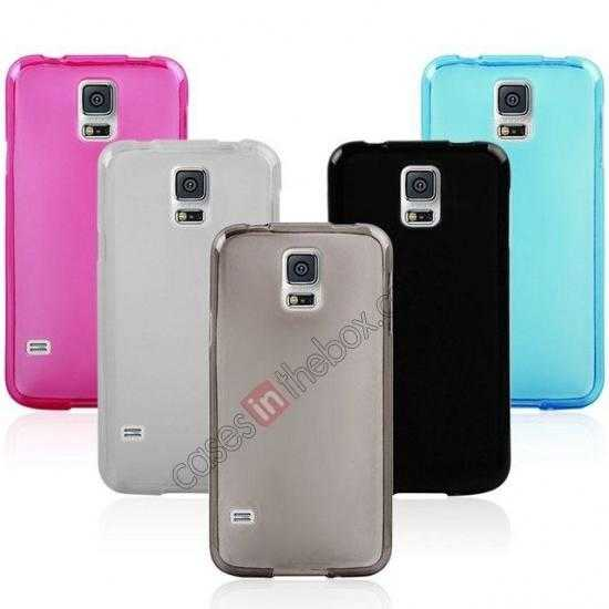 top quality New Ultra Thin Soft TPU Back Case Cover For Sumsung Galaxy S5 - Transparent