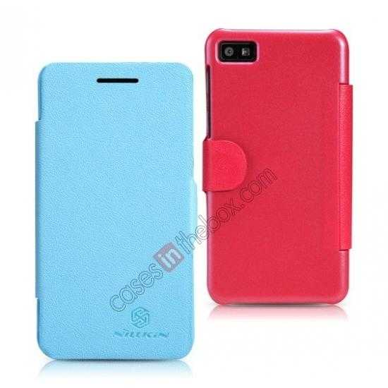 discount Newest Nillkin Fresh Series Slim Flip Leather Case for BlackBerry Z10