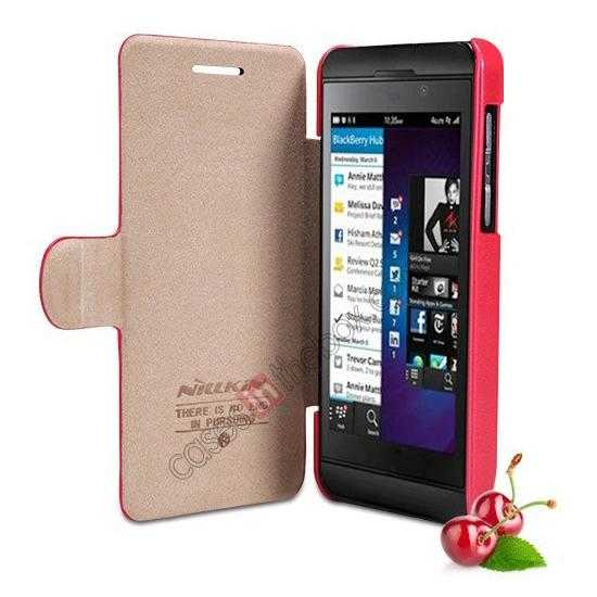 low price Newest Nillkin Fresh Series Slim Flip Leather Case for BlackBerry Z10