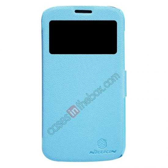 wholesale Newest Nillkin Fresh Series Slim Flip Leather Case for HUAWEI Y600 - Blue