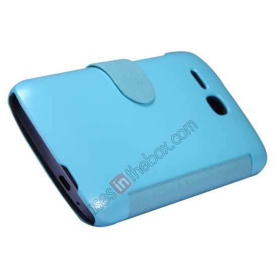 best price Newest Nillkin Fresh Series Slim Flip Leather Case for HUAWEI Y600 - Blue