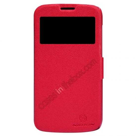 wholesale Newest Nillkin Fresh Series Slim Flip Leather Case for HUAWEI Y600 - Red