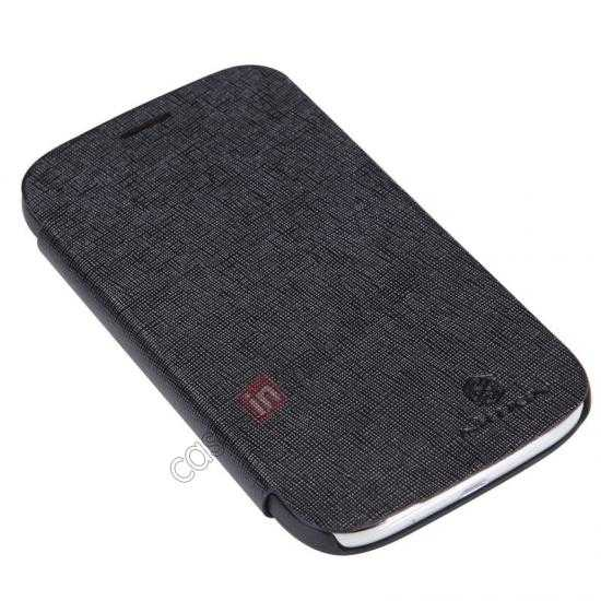 top quality Nillkin Crossed Style Leather Case Cover for Samsung Galaxy Grand Neo I9060 - Black