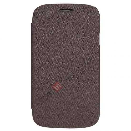 discount Nillkin Crossed Style Leather Case Cover for Samsung Galaxy Grand Neo I9060 - Brown