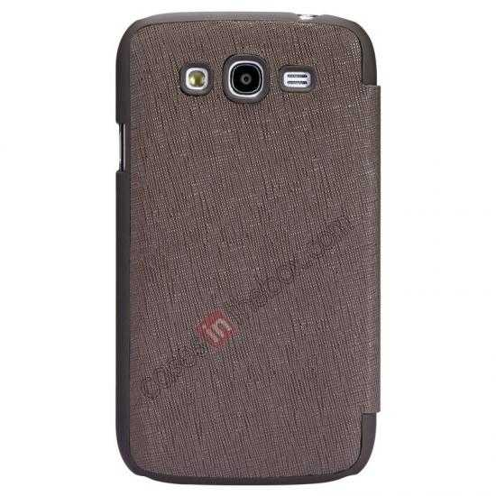 wholesale Nillkin Crossed Style Leather Case Cover for Samsung Galaxy Grand Neo I9060 - Brown