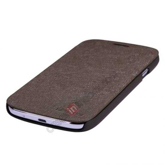 top quality Nillkin Crossed Style Leather Case Cover for Samsung Galaxy Grand Neo I9060 - Brown