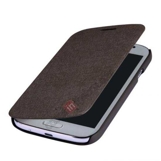 best price Nillkin Crossed Style Leather Case Cover for Samsung Galaxy Grand Neo I9060 - Brown