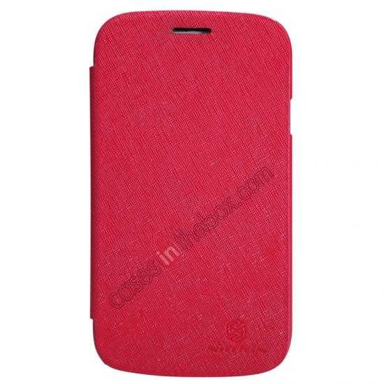 discount Nillkin Crossed Style Leather Case Cover for Samsung Galaxy Grand Neo I9060 - Red