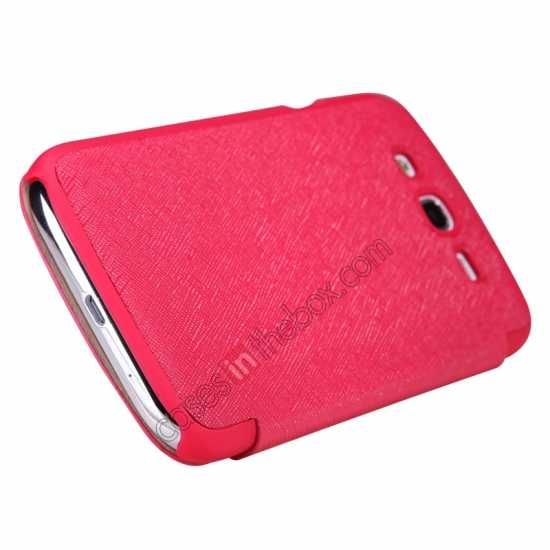 cheap Nillkin Crossed Style Leather Case Cover for Samsung Galaxy Grand Neo I9060 - Red