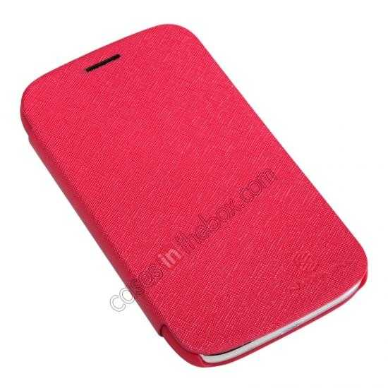 top quality Nillkin Crossed Style Leather Case Cover for Samsung Galaxy Grand Neo I9060 - Red