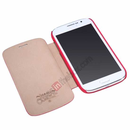 best price Nillkin Crossed Style Leather Case Cover for Samsung Galaxy Grand Neo I9060 - Red