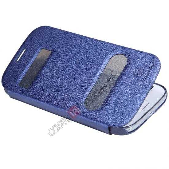 cheap NILLKIN Easy Series SIde Flip Leather Case for Samsung Galaxy Grand Neo I9060 - Blue