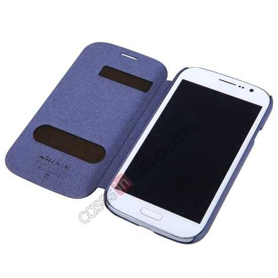 best price NILLKIN Easy Series SIde Flip Leather Case for Samsung Galaxy Grand Neo I9060 - Blue