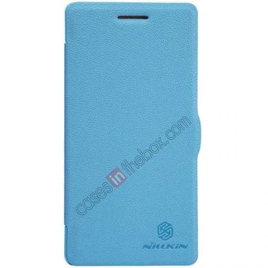 wholesale Nillkin Fresh Series Leather Case for OPPO R1(R829T) - Blue