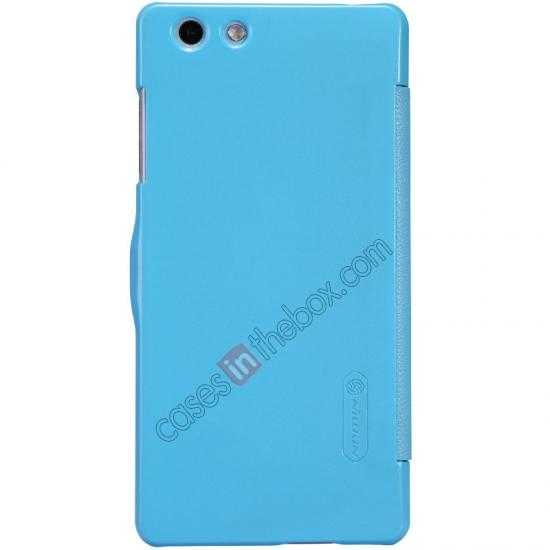 discount Nillkin Fresh Series Leather Case for OPPO R1(R829T) - Blue