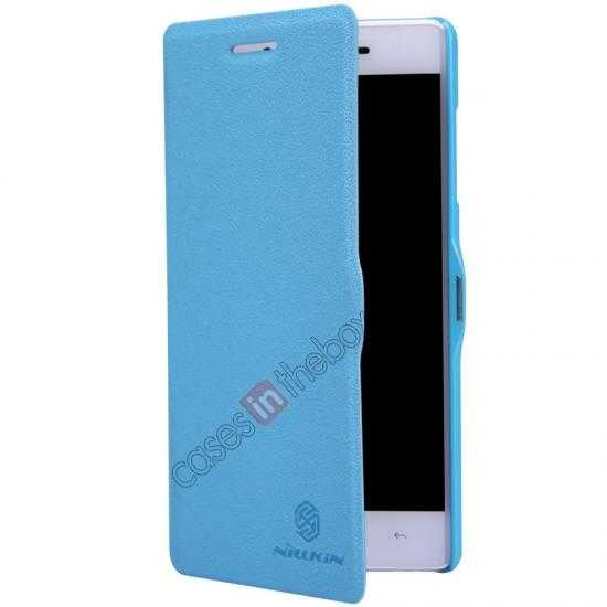 top quality Nillkin Fresh Series Leather Case for OPPO R1(R829T) - Blue