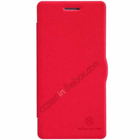 wholesale Nillkin Fresh Series Leather Case for OPPO R1(R829T) - Red