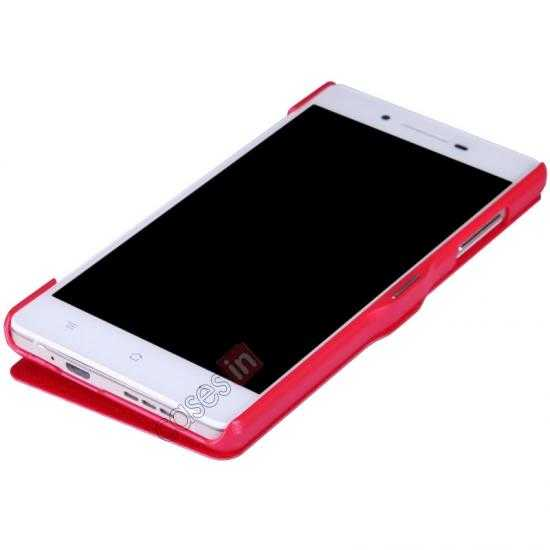 discount Nillkin Fresh Series Leather Case for OPPO R1(R829T) - Red