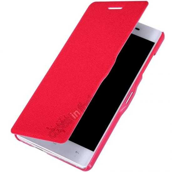 cheap Nillkin Fresh Series Leather Case for OPPO R1(R829T) - Red