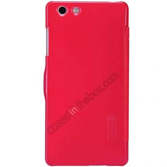 best price Nillkin Fresh Series Leather Case for OPPO R1(R829T) - Red