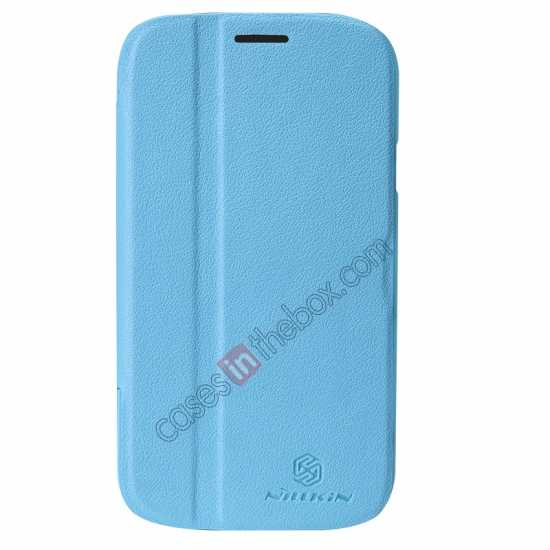 discount NILLKIN Fresh Series Leather Case for Samsung Galaxy Grand Neo I9060 - Blue